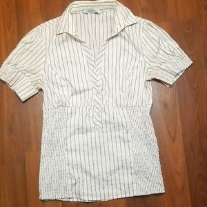 Zara button down pinstripe blouse!